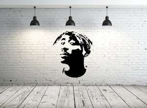 TUPAC MUSIC RAP ICON Sizes Reusable Stencil Music Modern Style 'Tupac'