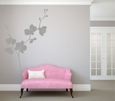 ORCHID Big & Small Sizes Colour Wall Sticker Orchis Flora Shabby Chic Romantic 'F50'