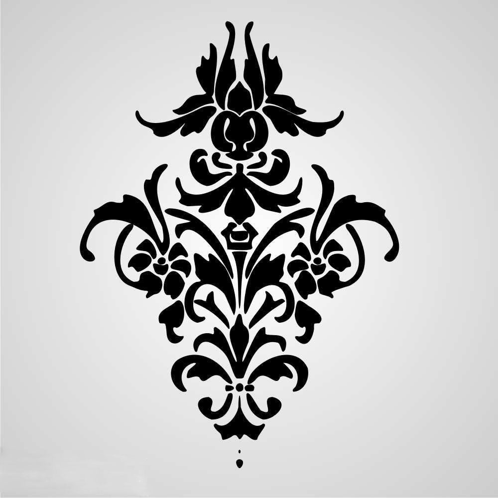 BAROQUE ORNAMENT Sizes Reusable Stencil Shabby Chic Romantic Style 'B1'