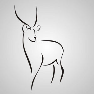 ARTISTIC DEER SKETCH Sizes Reusable Stencil Animal Romantic Style 'Animal15'