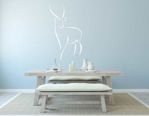 DEER SKETCH Big & Small Sizes Colour Wall Sticker Animal Romantic Style 'Animal15'
