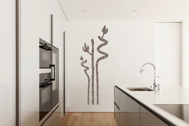 BAMBOO PLANT Big & Small Sizes Colour Wall Sticker Floral Oriental Exotic Style 'Bamboo6'