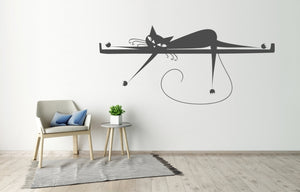 CAT ON THE SHELF KIDS ROOM Sizes Reusable Stencil Animal Modern Style 'Kids118'