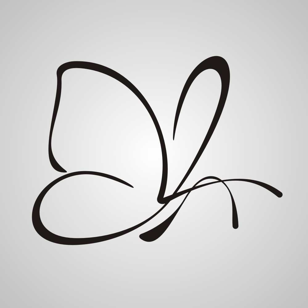 Artistic butterfly sketch sizes reusable stencil animal romantic style bird3