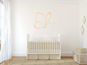 ARTISTIC BUTTERFLY SKETCH Big & Small Sizes Colour Wall Sticker Animal Romantic Style 'Bird3'