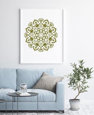 MANDALA FLOWER STAR ROUND Big & Small Sizes Colour Wall Sticker Oriental Shabby Chic Romantic / M22