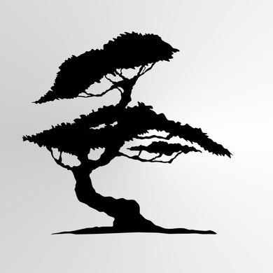 BONSAI TREE Sizes Reusable Stencil Floral Nature Modern Oriental Shabby Chic  'Tree4'
