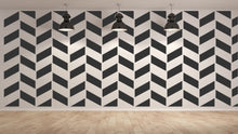 Modern Tiles Optical Illusion Zigzag Big & Small Sizes Colour Wall Sticker Modern Style / Modern3