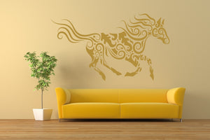 MOHENDI HORSE MANDALA Big & Small Sizes Colour Wall Sticker Shabby Chic Style / Animal2