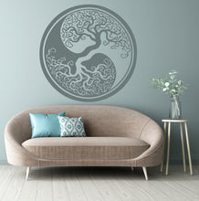 TREE OF LIFE Yin Yang MANDALA Sizes Reusable Stencil Modern Bohemian 'Tree of life2'
