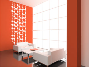 BEADS CURTAIN Big & Small Sizes Colour Wall Sticker Modern Romantic Style 'NO6'