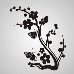ARTISTIC FLORAL BUTTERFLIES BRANCH Sizes Reusable Stencil Shabby Chic Romantic 'CH92'