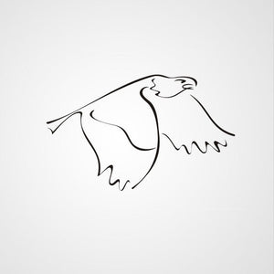 FLYING EAGLE ARTISTIC SKETCH Big & Small Sizes Colour Wall Sticker Kids Room Animal Modern 'Kids136'