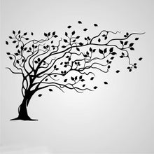 WILLOW TREE IN THE WIND Big & Small Sizes Colour Wall Sticker Shabby Chic Romantic Style 'Tree51'