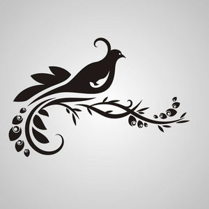 ARTISTIC FLORAL PEACOCK Sizes Reusable Stencil Shabby Chic Romantic Style 'CH62'