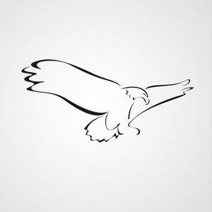FLYING EAGLE ARTISTIC SKETCH Big & Small Sizes Colour Wall Sticker Kids Room Animal Modern 'Kids138'