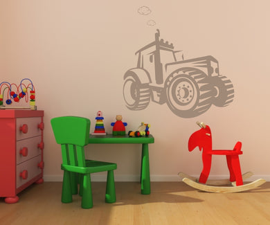 TRACTOR KIDS ROOM Big & Small Sizes Colour Wall Sticker Kids Room Modern Style / Kids155