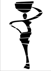 African Lady Statue Reusable Stencil Big Sizes Wall Decor Modern Travel Oriental Style / P2