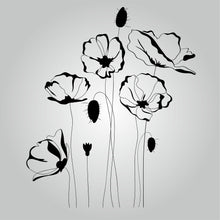POPPIES REMEMBRANCE DAY SYMBOL Sizes Colour Wall Sticker Shabby Chic Romantic 'Flora3_2'