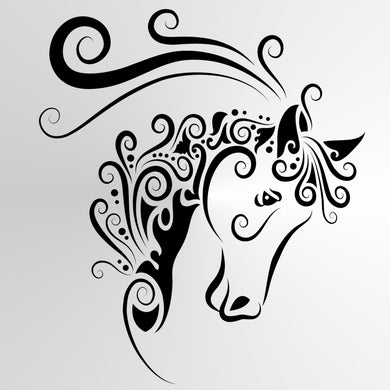 Mohendi Unicorn Horse Big & Small Sizes Colour Wall Sticker Shabby Chic Style / Animal7