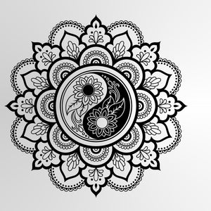 MANDALA STAR MEDALLION YIN YANG Sizes Reusable Stencil Exotic Oriental Travel 'Mandala4'