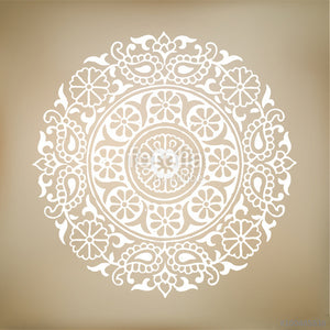 MANDALA ROUND MEDALLION Big & Small Sizes Colour Wall Sticker Oriental Modern 'Mandala1'