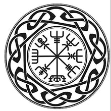 Celtic Mandala with Runes VARIOUS SIZES Reusable Stencil Wall Decor Oriental / M13