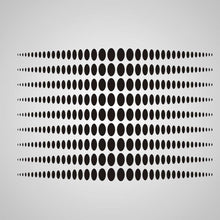 MODERN DOTS OPTICAL ILLUSION Big & Small Sizes Colour Wall Sticker Modern Romantic Style 'NO15'