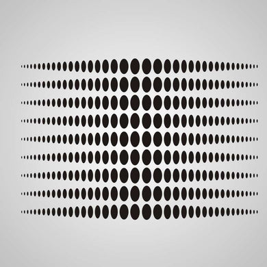 MODERN DOTS OPTICAL ILLUSION Sizes Reusable Stencil Modern Style 'No15'