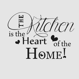 'KITCHEN IS THE HEART OF THE HOME' QUOTE Sizes Reusable Stencil Modern Style 'N77'