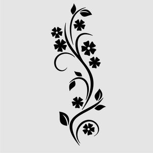 EDGY FLOWERS PLANT Big & Small Sizes Colour Wall Sticker Shabby Chic Romantic Style 'J17'