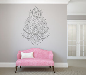 LOTUS MANADALA Big & Small Sizes Colour Wall Sticker Oriental Exotic Bohemian 'Mandala Lotus'