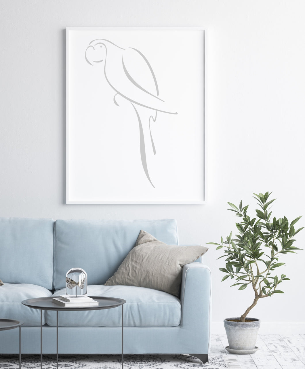 PARROT ARTISTIC SKETCH Big & Small Sizes Colour Wall Sticker Animal Kids Room Modern Style 'Kids149'