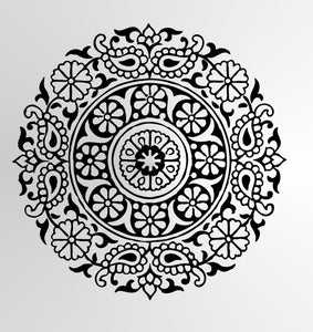 MANDALA ROUND MEDALLION Sizes Reusable Stencil Exotic Oriental Travel Style 'Mandala1'