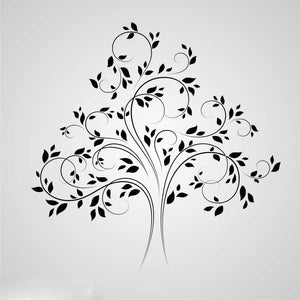 WIDE TREE SKETCH Sizes Reusable Stencil Floral Nature Modern Shabby Chic 'Tree45'
