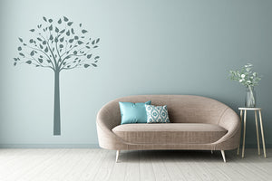 SINGLE SYMMETRIC TREE Big & Small Sizes Colour Wall Sticker Modern Shabby Chic Style 'Tree1'