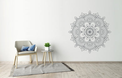 MANDALA ROUND MEDALLION Big & Small Sizes Colour Wall Sticker Oriental Modern 'Mandala6'