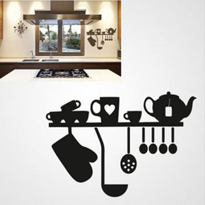 KITCHEN SET Sizes Reusable Stencil Modern Country Cottage Style 'Cafe10'