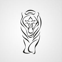 WALKING TIGER SKETCH Big & Small Sizes Colour Wall Sticker Animal Romantic Modern 'Animal80'