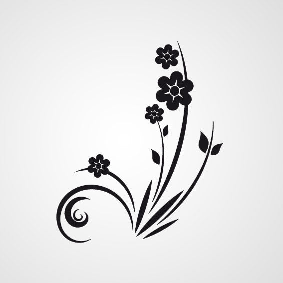 FLORAL CORNER Sizes Reusable Stencil Shabby Chic Romantic Style 'Flora13'