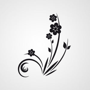 FLORAL CORNER Big & Small Sizes Colour Wall Sticker Shabby Chic Romantic Style 'Flora13'