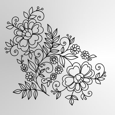 FOLKLORE ORNAMENTS SET Sizes Reusable Stencil Ornaments Romantic Style 'Folk4'