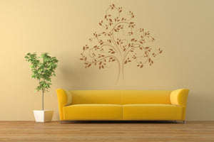 WIDE TREE SKETCH Big & Small Sizes Colour Wall Sticker Shabby Chic Romantic Style 'Tree45'
