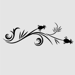 THISTLE FLORAL BORDER ORNAMENT Sizes Reusable Stencil Orient Shabby Chic 'J33'