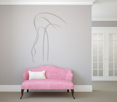 FLAMINGO ARTISTIC SKETCH Big & Small Sizes Colour Wall Sticker Animal Kids Room 'Kids151'