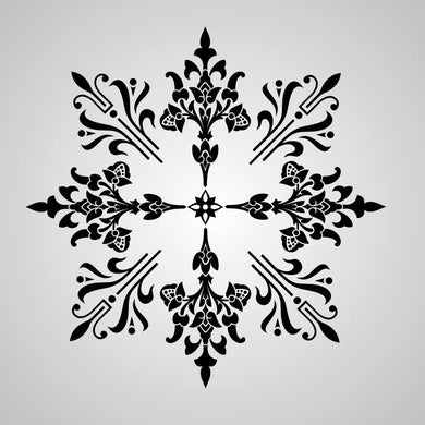 MANADALA STAR SNOW FLAKE  Big & Small Sizes Reusable Stencil Oriental Bohemian 'Deco13'