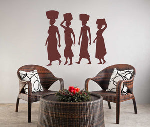 AFRICAN LADIES Big & Small Sizes Colour Wall Sticker Travel Oriental Modern Style 'P1'
