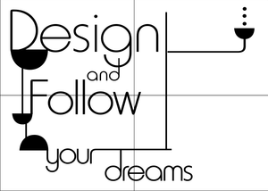,, DESIGN AND FOLLOW YOUR DREAMS'' QUOTE Sizes Reusable Stencil Modern Style 'N85'
