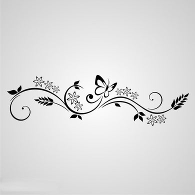 DECOR ORNAMENT BUTTERFLY Sizes Reusable Stencil Shabby Chic Romantic Style 'J29'