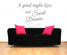 ,,A GOOD NIGHT KISS AND SWEET DREAMS'' QUOTE Sizes Reusable Stencil Modern Style 'Q49'
